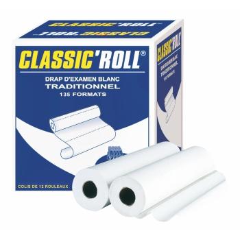 draps d'examens classiques professionnel CLASSIC'ROLL - 135 formats - 50 x 35 cm - 12 rouleaux par colis REF 535