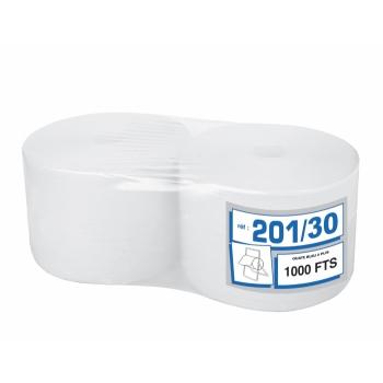 Bobines professionnel dévidage central pure ouate - 1000 formats - 22 x 30 cm - 2 rouleaux par colis - Ref. 201/30