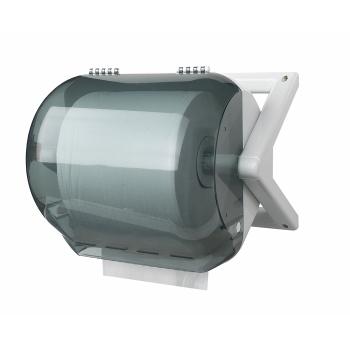 Distributeur bobines professionnel ABS anti-choc - mini-ouate - 1000 formats - diamètre 26 x H 22 cm REF 10515