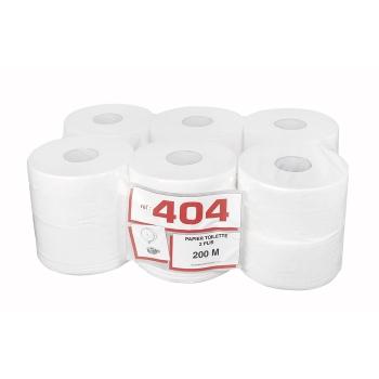 Papier hygiénique professionnel 2 plis mini Jumbo - 200 m - 12 rouleaux par colis