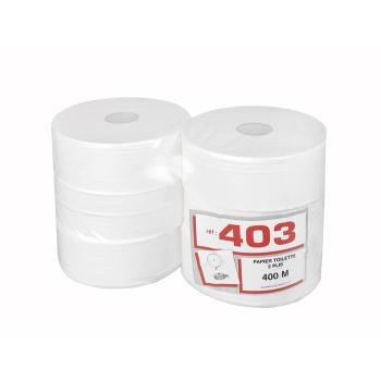 Papier hygiénique professionnel 2 plis maxi jumbo - 400 m - 6 rouleaux par colis