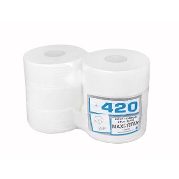Papier hygiénique professionnel 2 plis maxi Titan - 320 m - 6 rouleaux par colis