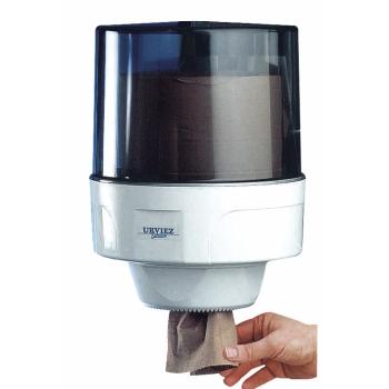 Distributeur bobine professionnel dévidage central - maxi-ouate - 450 à 1000 formats - ø 26 x H 34 cm - Ref. 10516