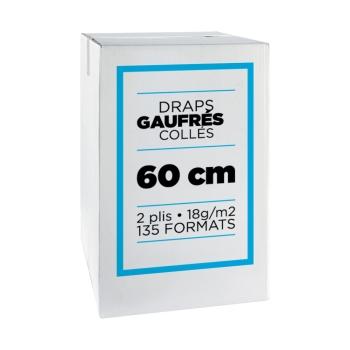 Draps d'examens professionnel micro gaufrés collés- 135 formats - 60 x 35 cm - 9 rouleaux par colis REF 567