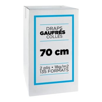 Draps d'examens professionnel micro gaufrés collés- 135 formats - 70 x 35 cm - 9 rouleaux par colis REF 568