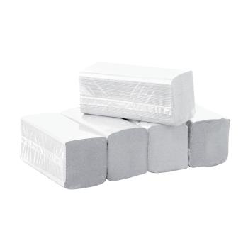 Essuie-mains professionnel gaufré collé pliage en V - 150 essuies mains - 20 x 23 cm - 20 cartouches par colis-REF 708GV
