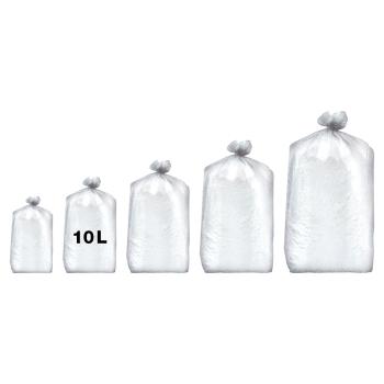 Sacs poubelles professionnel blancs - haute densité - 10 Litres 35µ - 1000 par colis REF 10681