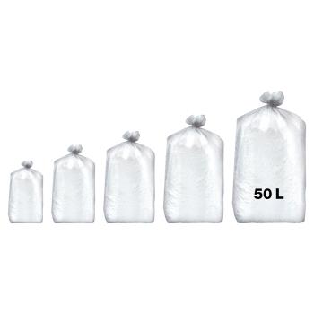 Sacs poubelles professionnel blancs - haute densité - 50 Litres 35µ - 500 par colis REF 10684