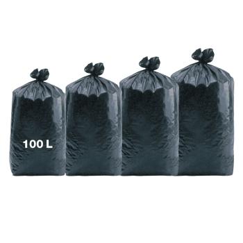 Sacs poubelles professionnel noirs - haute densité - 100 Litres 35µ - 200 par colis REF 10685