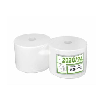 Bobines professionnel dévidage central gaufrées - 1500 formats - 22 x 24 cm - 2 rouleaux par colis
