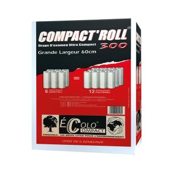 draps d'examens compact - 150 formats - 60 x 38 cm - 6 rouleaux par colis REF 504EC