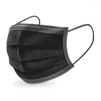 Masques 3 Plis Chirurgicaux noirs - Boîte de 50 - Vendu par colis de 40