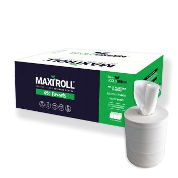 Bobines professionnel dévidage central - maxi-ouate - 450 formats - 19 x 30 cm - 6 rouleaux par colis - Ref 205/30 Ecolo Green