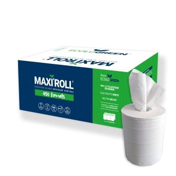 Maxi ouate lisse 19x24 - 450 formats - Par 6 rouleaux - Pure ouate de cellulose blanche - Ref 205/24 Ecolo Green