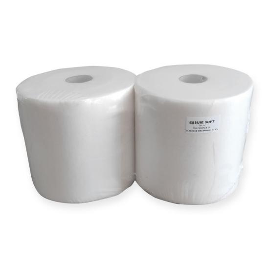 Essuie Soft professionnel - 250 formats - 25 x 35 cm - 2 rouleaux  par colis REF 655NP