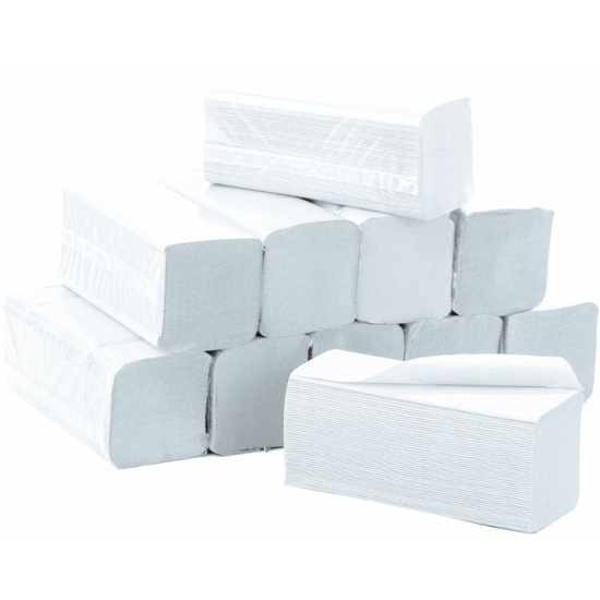 Essuie-mains professionnel enchevêtrés - classique - 100 Essuies mains - 22 x 34 cm - 32 cartouches / colis - REF 709