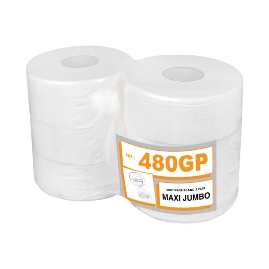 Papier hygiénique professionnel gaufré maxi jumbo - 285 m - 6 rouleaux par colis