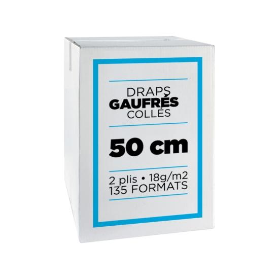 Draps d'examens professionnel micro gaufrés collés- 135 formats - 50 x 35 cm - 9 rouleaux par colis REF 566