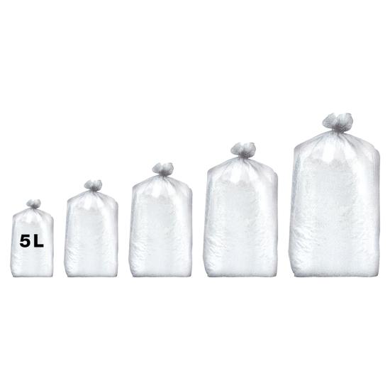 Sacs poubelles professionnel blancs - haute densité - 5 Litres 35µ - 1000 par colis REF 10680