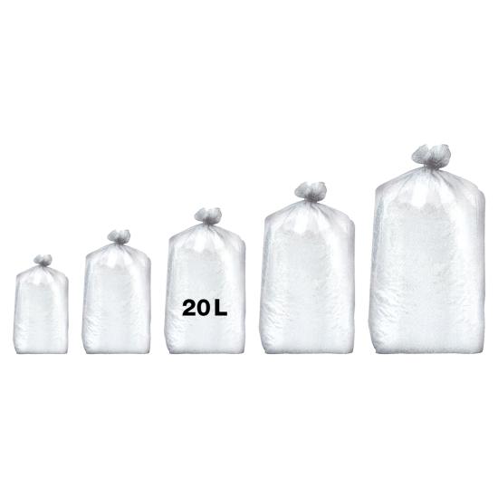 Sacs poubelles professionnel blancs - haute densité - 20 Litres 35µ - 1000 par colis REF 10682