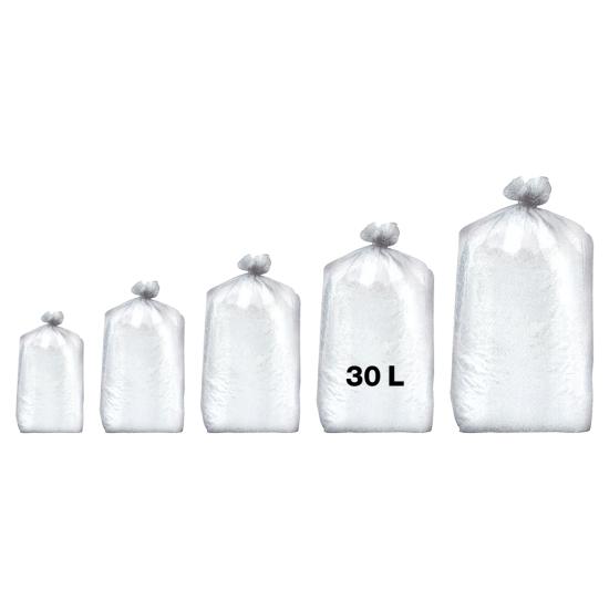 Sacs poubelles professionnel blancs - haute densité - 30 Litres 35µ - 500 par colis REF 10683
