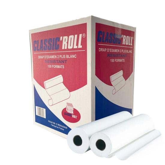 draps d'examens classiques professionnel - 150 formats - 50 x 38 cm - 12 rouleaux par colis REF 501