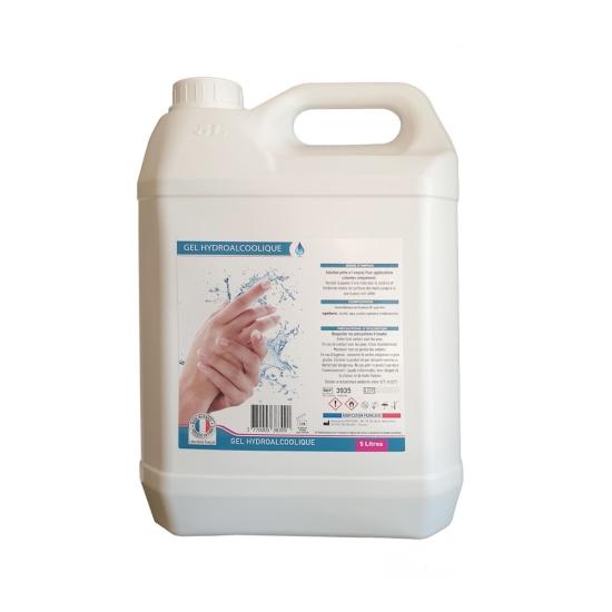 Gel hydroalcoolique - Colis de 4 bidons de 5 litres
